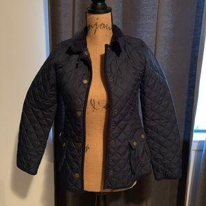 Girls' Lightweight Navy Blue Quilted Jacket